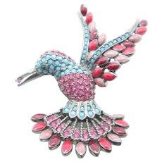 Fabulous Joan Rivers Hummingbird Brooch Pin