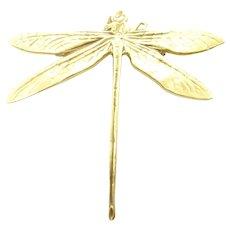 MMA Metropolitan Museum Of Art Gold Tone Dragonfly Pin Brooch