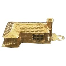 House Charm Solid 14K Gold  1960's