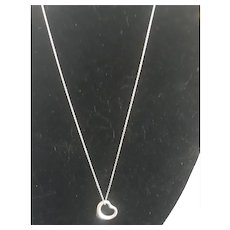 "Tiffany & Co. Elsa Peretti Spain 925 Sterling Silver Heart Chain Necklace 18"""