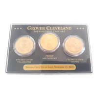 2012 Grover Cleveland 3 Coin Presidential $ Coin Set P, D, S