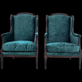 Louis XV style armchair set, France, circa 1890.