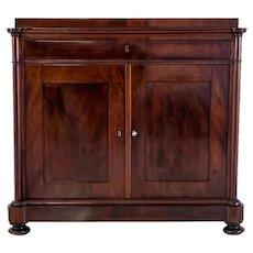 Mahogany chest of drawers, Scandinavia, circa 1880. Antique.