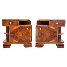 Art Deco bedside tables, Poland, mid 20th century. After renovation.