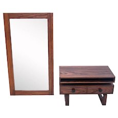 A chest of drawers with a mirror, Danish design, 1960s