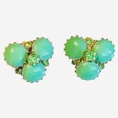 Vintage clip on costume earrings