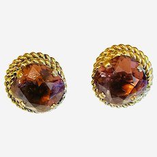 Vintage costume clip on earrings