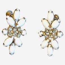 Vintage costume screw on earrings