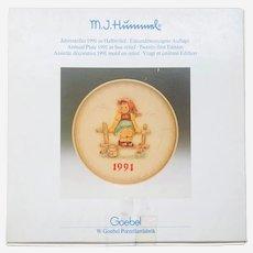 """Hummel Goebel 1991 """" just resting"""" plate"""