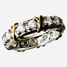 Silver 925 vintage rhinestone ring size 12.5