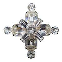 Weiss 'Maltese Cross' Brooch - Exquisite!