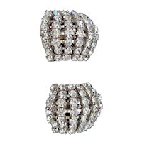 La Rel Large Clip-on Rhinestone Earrings