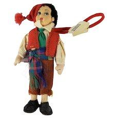 "Vintage Frascati Magis Roma Sorrento Campania Doll Made in Italy w/Tag 5"" Tall"