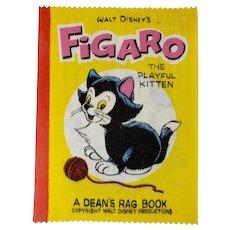Vintage 1961 Disney FIGARO Playful Kitten Dean's Rag Children's Cloth Book