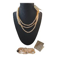Cultured Fresh Water Pearl necklace and bracelet set