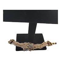 Vintage Florenza Imitation Freshwater Pearl bead bracelet