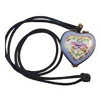 Limoges Rochard Heart Pendant/trinket box