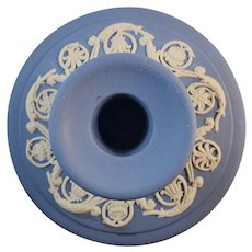 Wedgwood Blue Jasperware Candle holder/stick