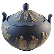 Wedgwood Blue Jasperware Sugar Bowl
