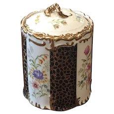 Vintage Hand Painted Porcelain Biscuit Jar