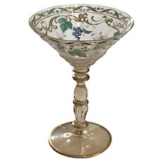 1930's Hand Painted Venetian Champagne Glasses