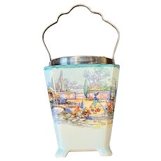Lancaster & Sons Hanley England Biscuit Jar