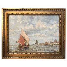 Marine painting, Oil on canvas by Vanderelst