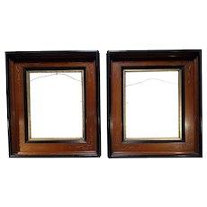 Pair Antique Molded & Scrolled Gilt Frames