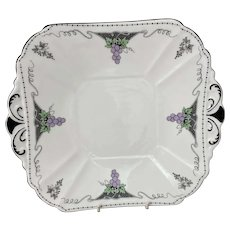 Shelley Vine and Grapes Cake Plate c1928