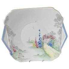 Shelley Archway of Roses Cake plate c 1930