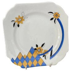 Shelley Rare Harlequin plate c1932