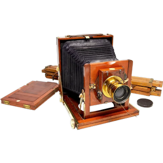 Antique British Folding Plate Camera by Thornton Pickard of Manchester