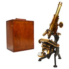 Antique microscope, William Watson of London, circa 1920