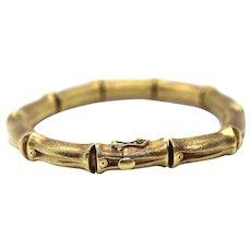 "18k Bamboo bracelet. High Detailed Bamboo articulated link bracelet. 8.25"" and 25.4grams."