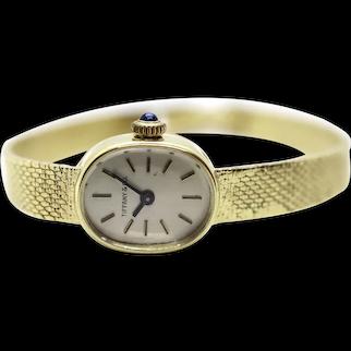14k Tiffany & Co Cocktail Watch. Manual Windup 14k Gold