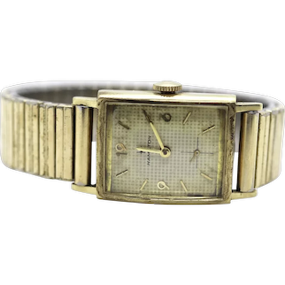 14k Gold Rectangle Hamilton watch