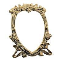 50s Photo Frame 3.5'' x 5'' - Vintage Photo Frame - Bronze Heart Photo Frame - Metal Old Frame - Vertical Solid Frame