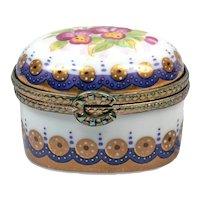 Vintage Porcelain Box - Hand Painted Box - England Memory Box - Engagement Box - Vintage Box 60's - Pill Box