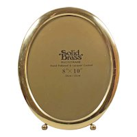 England solid brass oval photo frame - Vintage 8x10 photo frame - Big oval photo