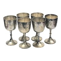 Silver Plated Stemware - Stemware for Wine - Silver Table Decor