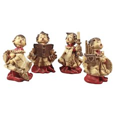 Set Catholic Figurines - Church Figurines - Religious Figurine - Handpainted Figurine - Small Monk Boys - Cute Children Figurines