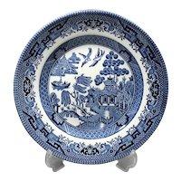 Set of 7 Plates - England Churchill - Blue White England Pottery - Dessert Plates Seven Pieces