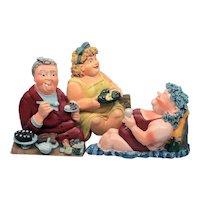 Wall Art - Norwegian Art - Mini Ceramic Sculptures - Figures fra Figaro Marit Walle