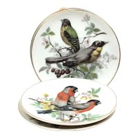 Set of 2 Plates - Small Decorative Plates - Wall Ceramic Plates - Hand Painted Plates - Plates of Forest Birds - Living Room Decor