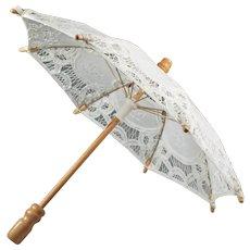 Vintage Lace Embroidered - White Embroidered Umbrella - Parasol for Doll -  Umbrella Parasol Decor - Small Cotton Umbrella