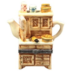 Mini Ceramic Box with Lid - Mini Teapot Box - Collectible Vintage Box - Porcelain Collectible Box