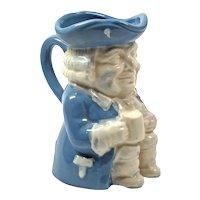 Blue Ceramic Jug Toby Royal Doulton - England Cup Collectible - Tony Jug Cup Beer