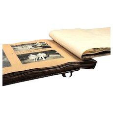 Vintage Photo Albums -  Leather Album - Album with Old Photos - Set Old Photos - Photos 19th Century - Black-white Photos
