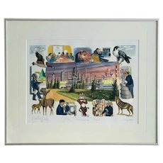 """Limited Edition Print: Strathcona Proud signed  J. Yardley Jones, numbered 260/500, Professionally Framed, 19.5"""" W x 16"""" H"""