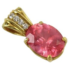 Sweet Home Gem Rhodochrosite Solid 18k Gold Necklace Pendant – 2 carats